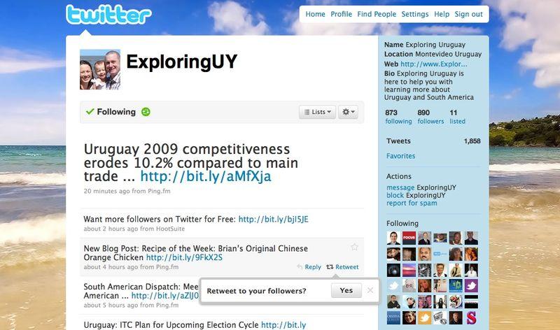 Exploring Uruguay Twit Screen